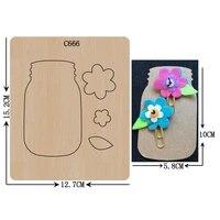 new bottle card flower diy wooden die scrapbooking c 666 cutting dies multiple sizes