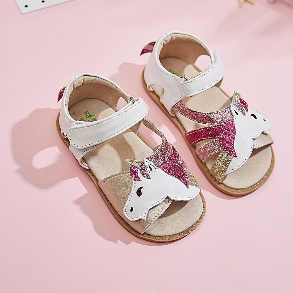TipsieToes أفضل ماركة وحيد القرن والجلود الناعمة في صيف جديد الفتيات الأطفال بيرفوت أحذية صنادل أطفال طفل رضيع 1-12 سنة