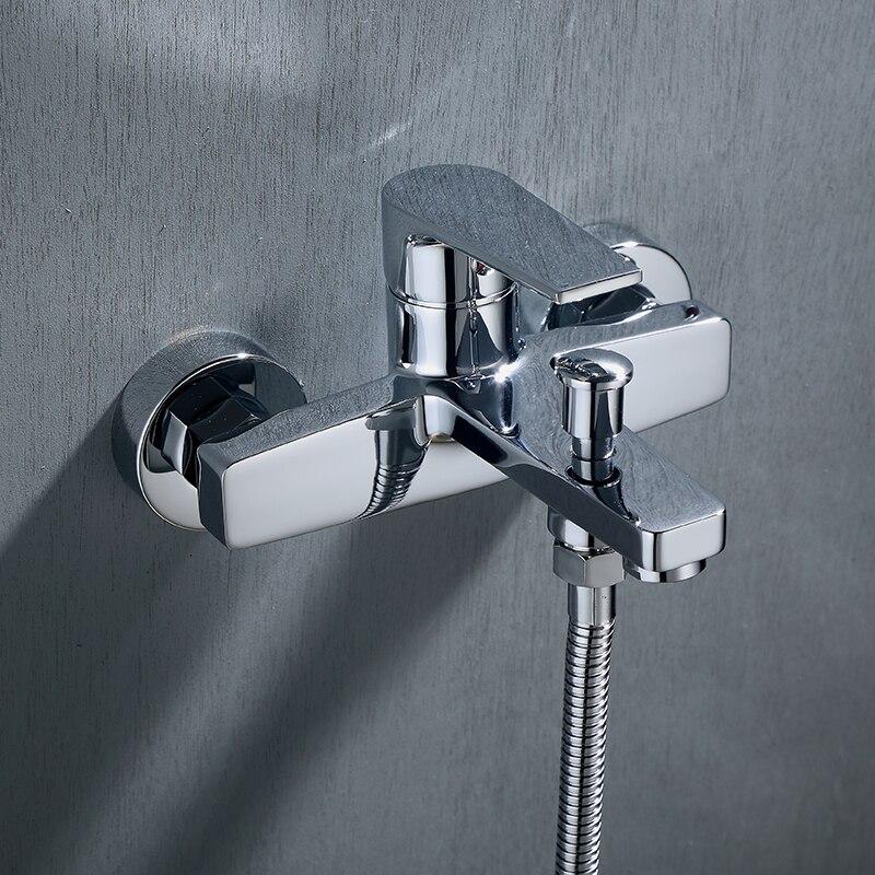 Настенный смеситель для душа, смесители ванны и корпуса, черный Душевая насадка смеситель, комбинированный смесит...