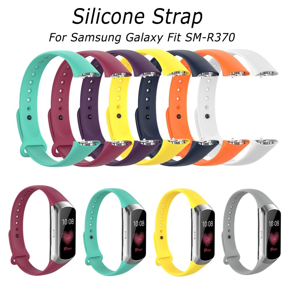 Hangrui Спортивные Мягкие силиконовые часы ремешок для samsung Galaxy Fit SM-R370 смарт-браслетный ремешок для часов SM R370 аксессуары