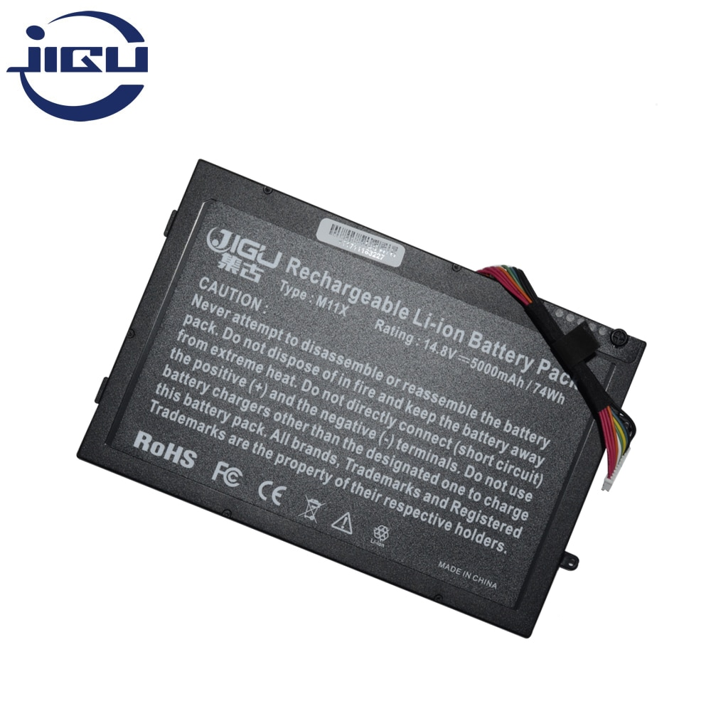 JIGU nueva batería de ordenador portátil 08P6X6 8P6X6 P06T T7YJR PT6V8 para DELL Alienware M11x M14x R1 R2 R3