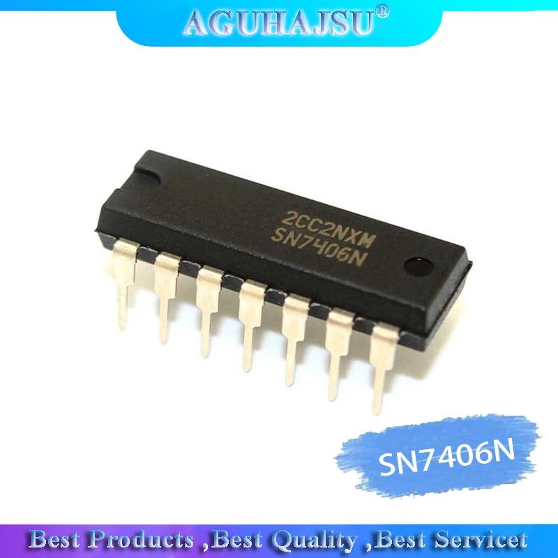5PCS SN7406N DM7406N HD7406P SN7406 7406P Inline DIP14 7406N Marca 7406 original novo autêntica