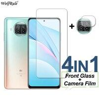 Защитная пленка для экрана 2 шт. для Xiaomi Mi 10T Lite стекло Mi 10i 10T Pro 9 Lite закаленное стекло защитный чехол для телефона киносъемки с помощью камеры ...