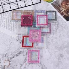 1Pcs Square Diamond False Eyelash Packaging Box Fake 3d Mink Eyelashes Boxes Case Lashes Empty Multicolor