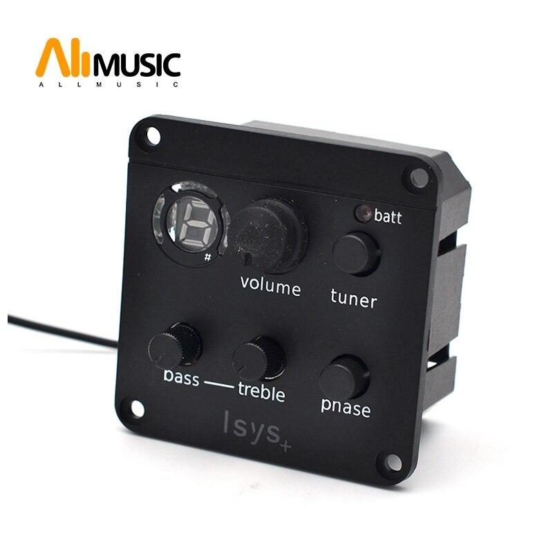 Sonicore-مفتاح حلقي للجيتار الصوتي ، وحدة تبديل الطور ISYS EQ ، مع صندوق بطارية لاقط ، مقبس إخراج