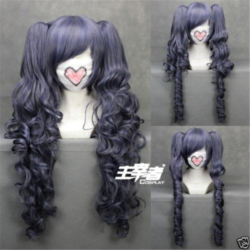 Черный Дворецкий Kuroshitsuji Ciel Phantomhive парик синий серый микс синтетические волосы косплей парики с клипсой съемные хвосты + парик колпачок