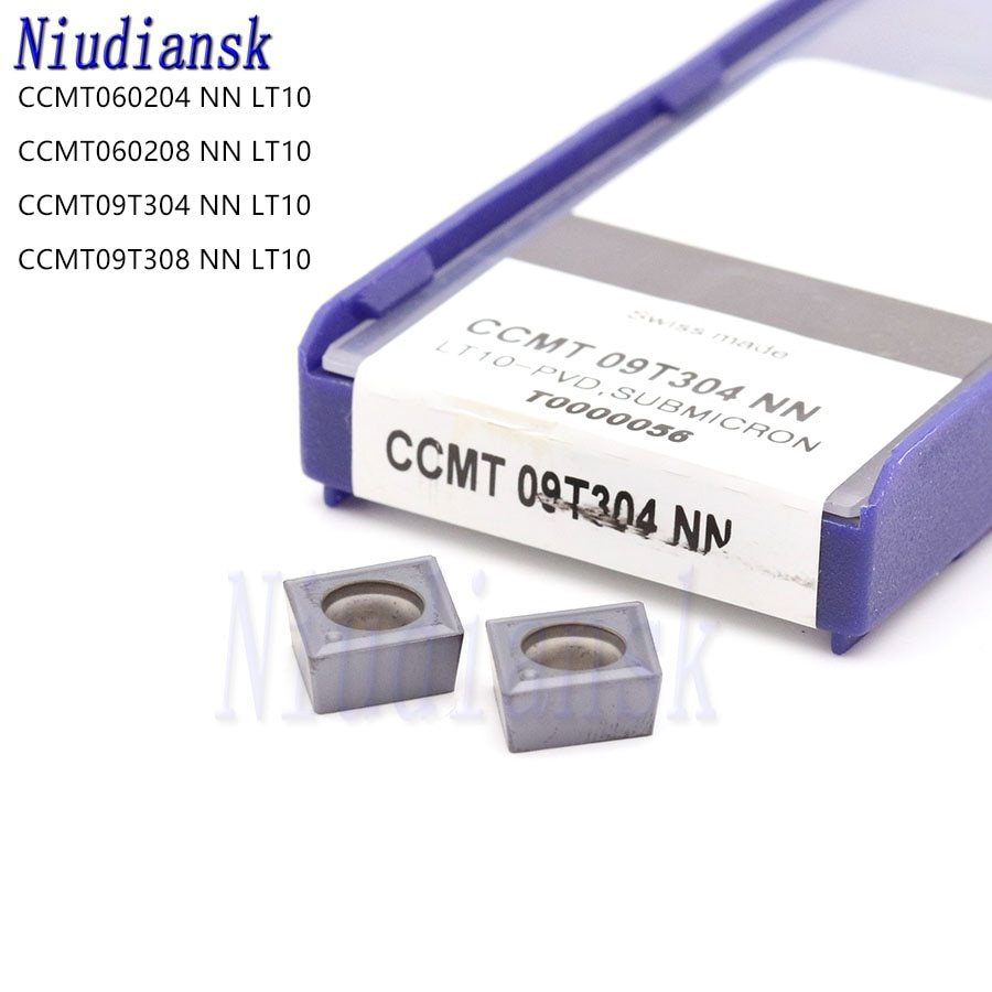 Ccmt060204 ccmt060208 nn lt10 ccmt09t304 ccmt09t308 nn lt10 alta qualidade inserções de carboneto cnc torno ferramentas ferramenta torneamento interno