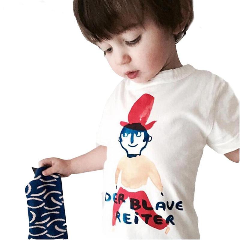 New Kids Casual Cotton Top Tees Cotton T-shirt Cartoon Printer Boys and girl Top Tee Kids Clothing Fashion Clothe Summer