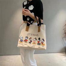 2020 neue Disney Koreanische leinwand tasche große-kapazität tote tasche Mickey maus frauen mode druck schulter diagonal rucksack