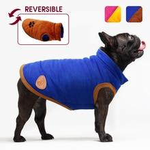 Abrigo de perro de invierno chaqueta Bulldog francés ropa para mascotas cachorro gato Chihuahua ropa para perros pequeños Meduim chaleco grande Reversible