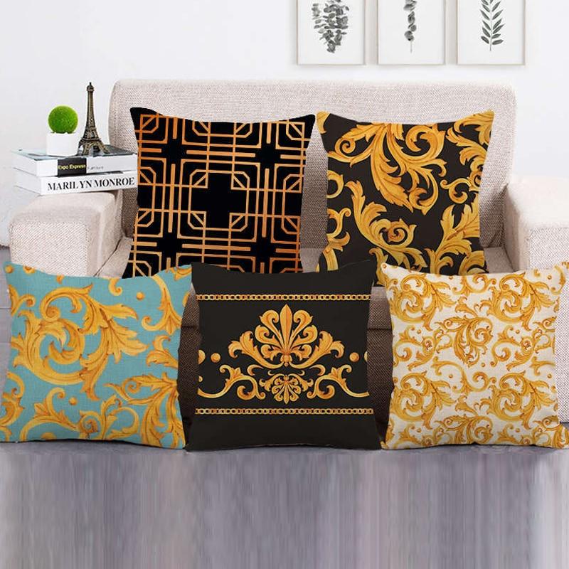 Pillowcase sofa cushion decoration luxury cover geometric lattice pillowcase throw christmas pillow case