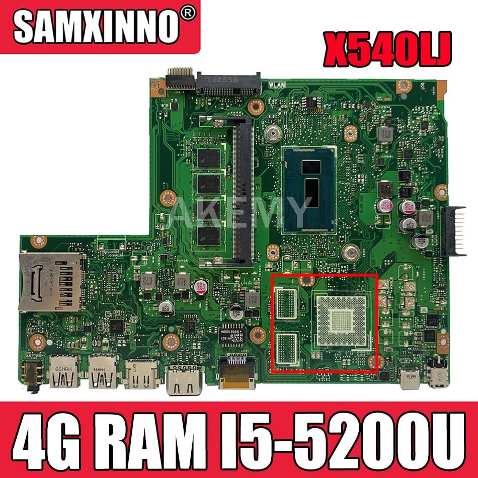 X540LJ اللوحة الأم ل ASUS X540L F540LA X540LA اللوحة المحمول 4G RAM I5-5200U REV2.1 اختبار العمل 100%