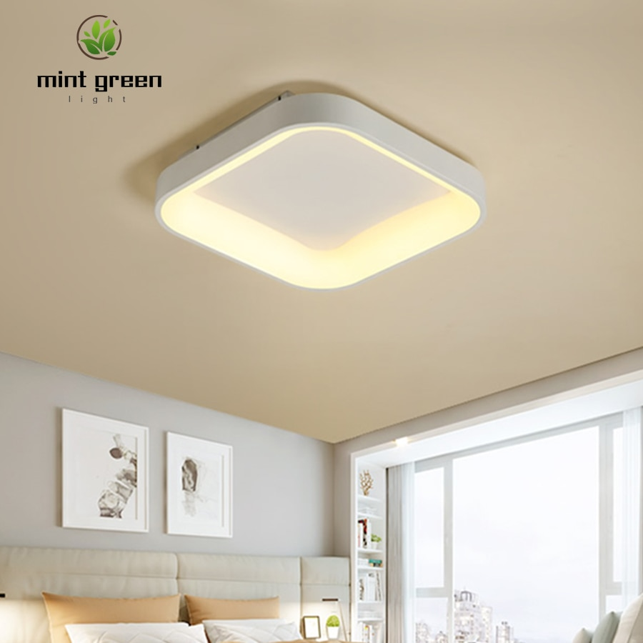 Led celling light bedroom lamp simple modern master bedroom romantic room lamp creative personality square led lamps