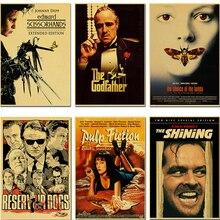 Film classique leon, le brillant, Fiction en pulpe, ciseaux edward, Bar dintérieur, affiche décorative vintage