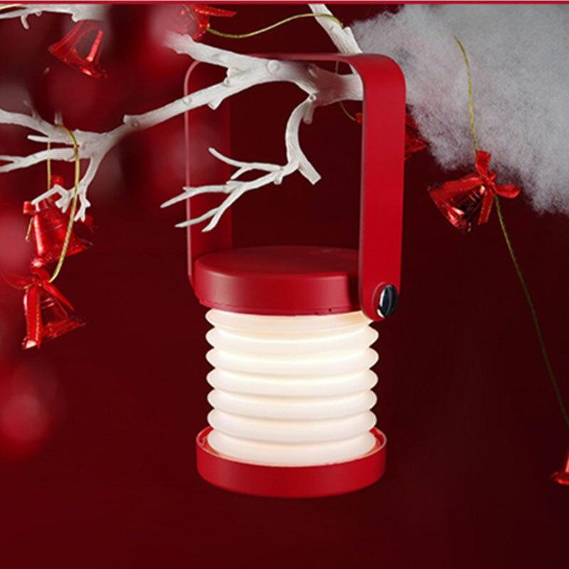 جديد الإبداعية طوي LED أضواء ليلية القراءة مصباح المحمولة الفانوس مصباح USB شحن للأطفال أطفال غرفة نوم هدية