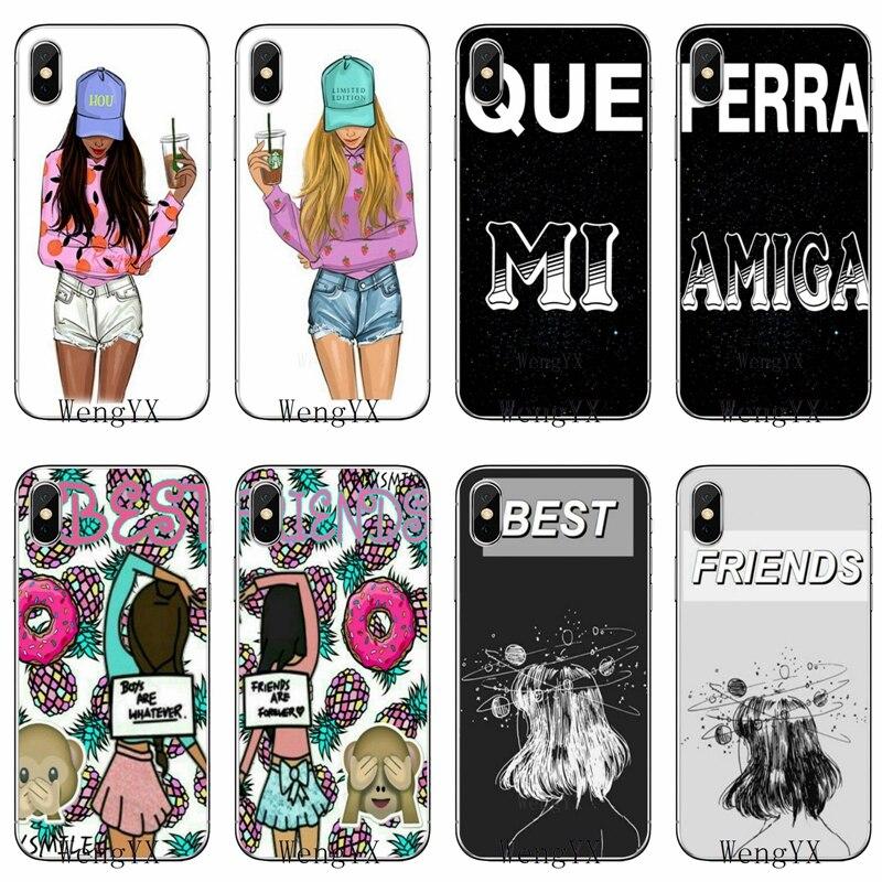 Cubierta suave caso bff, mejores amigos chica hermana para Samsung Galaxy A10 A30 A40 A50 A60 A70 A6s A8 A9s J4 J6 primer Plus 2018