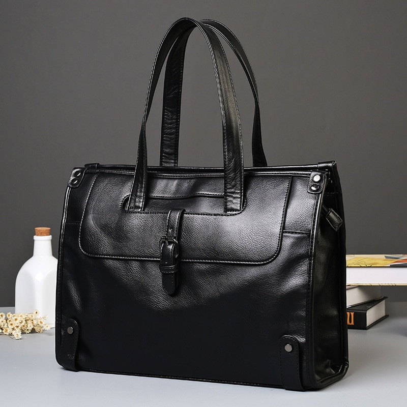 2021 New Men's Bags PU Leather Men's Casual B / L Shoulder Bags Large Capacity Messenger Men's Business Travel Bags Large Bags