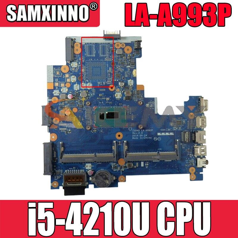 ل HP بافيليون 14-R 246 G3 LA-A993P 760691-001 SR1EF i5-4210U DDR3L دفتر اللوحة اللوحة اختبار كامل 100% العمل