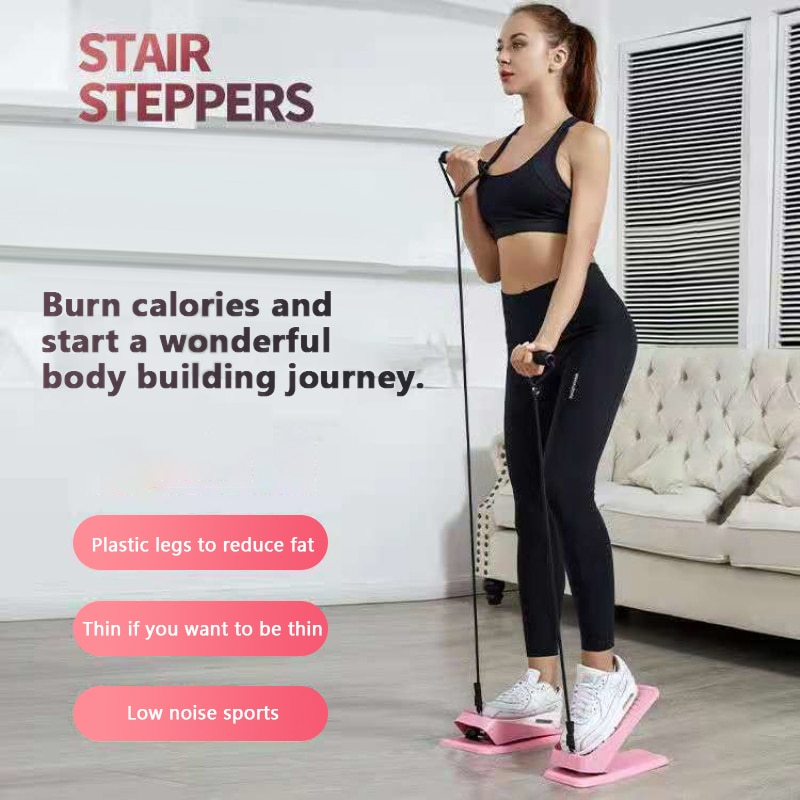 2021 Mini Treadmill Steppers Pedal Drawstring Household Quiet Stair Climbers Home Fitness Equipment For Lose Weight Leg Slimming