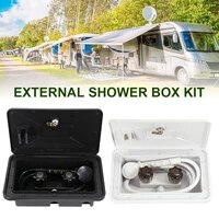 rv shower box kit with lock hot cold switch shower kit outdoor shower exterior for rv camper van motorhome caravan fast delivery