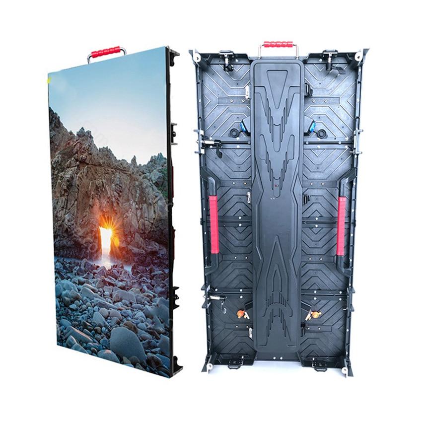 شاشة عرض Led خارجية ، خزانة ألومنيوم مصبوبة 500 × 1000 مللي متر ، لوح شاشة عرض Led 128x256dots للإعلان ، استوديو حائط فيديو Led