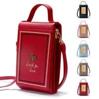 crossbody bag leather women bag fashion little bee shoulder bag female messenger bag for lady handbags coin purse parcel package