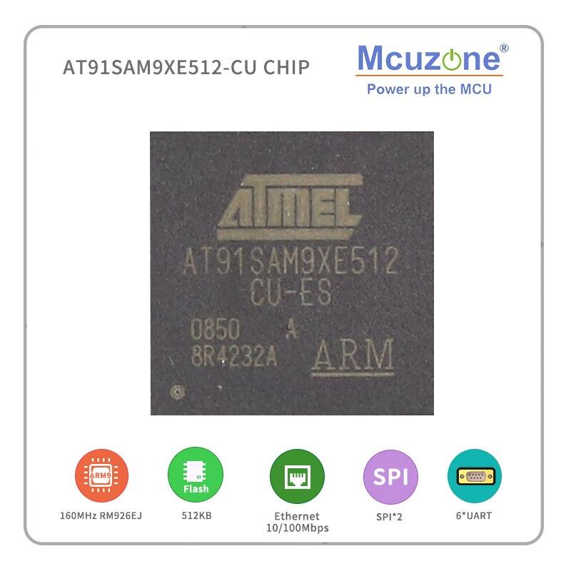 AT91SAM9XE512-CU ( ATMEL ARM9) puce 160MHz SPI UART Ethernet MAC 10/100 port