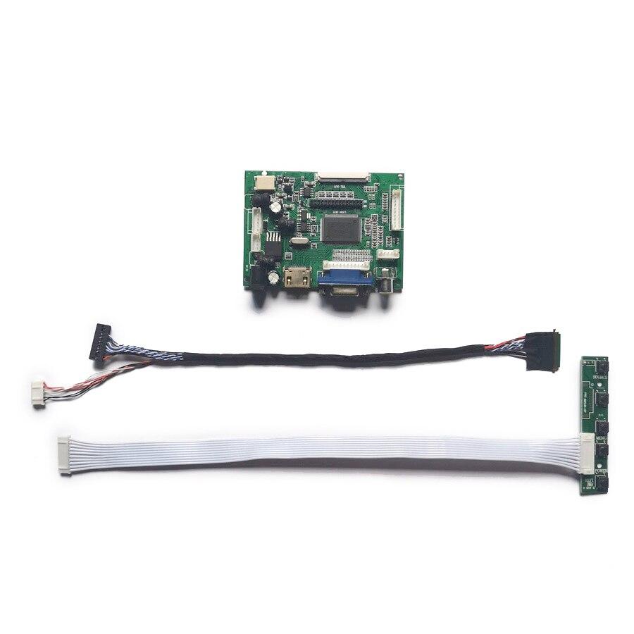 40 دبوس LVDS 1920*1080 VGA + AV LCD عرض تحكم محرك مجلس DIY كيت صالح N156HGE/N164HGE/N173H6/N173HGE لوحة WLED 60Hz