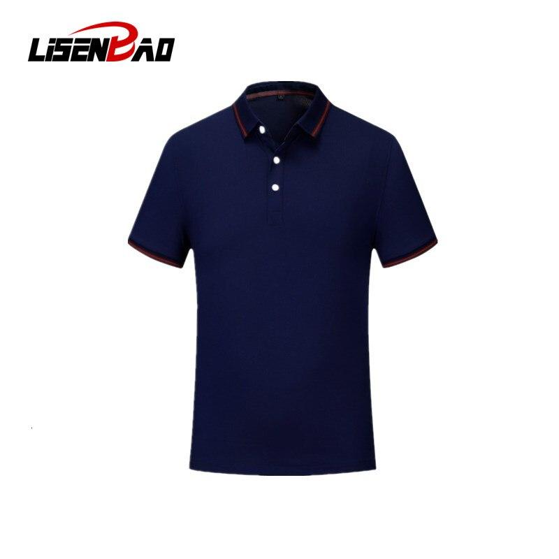 Брендовая мужская рубашка-поло LiSENBAO, хлопковая рубашка-поло с коротким рукавом, мужские топы, повседневные футболки, летние мужские рубашки...
