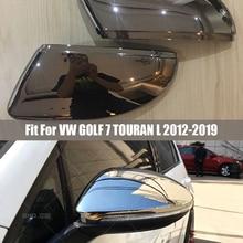 Rearview side wing mirror cover caps For VW Golf MK7 MK7.5 GTI 7 Golf 7 R Touran L Golf7 G matt silver 2 pieces 2012 2013 2019