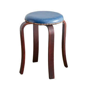 American wrought iron stool home simple fashion bench Makeup stool thick adult round stool dining meal