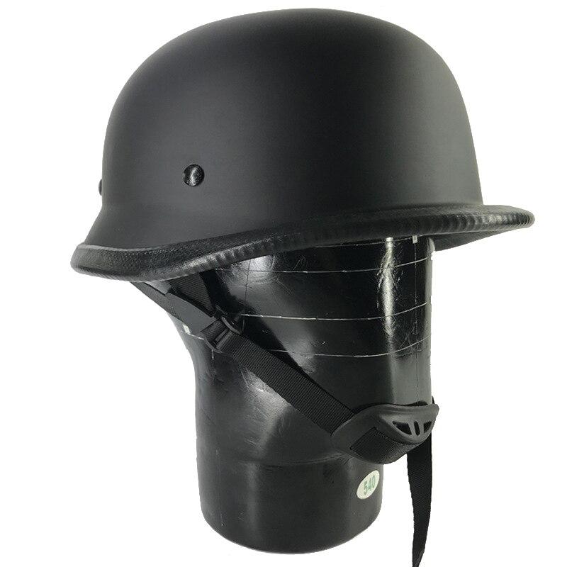 Casco de Moto de media cara Vintage, gorra para hombre/mujer, motocross, Moto de carreras, protector solar Capacete, Segunda Guerra Mundial, alemán C3