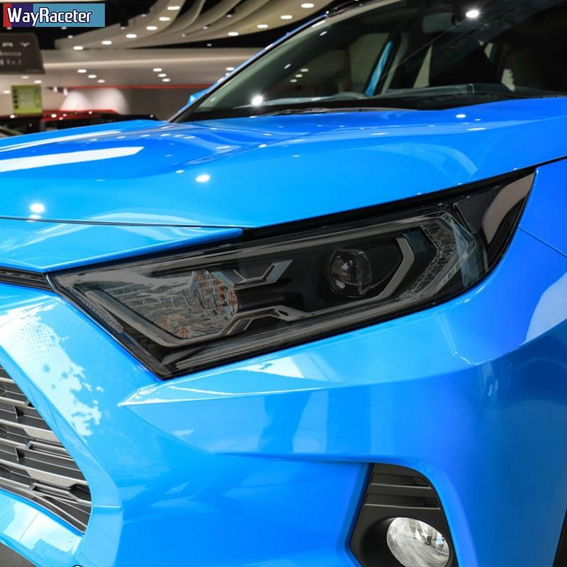 2 قطعة سيارة العلوي طبقة رقيقة واقية الفينيل حماية شفاف أسود بولي Sticker ملصق لتويوتا RAV4 XA50 2019 2020 اكسسوارات