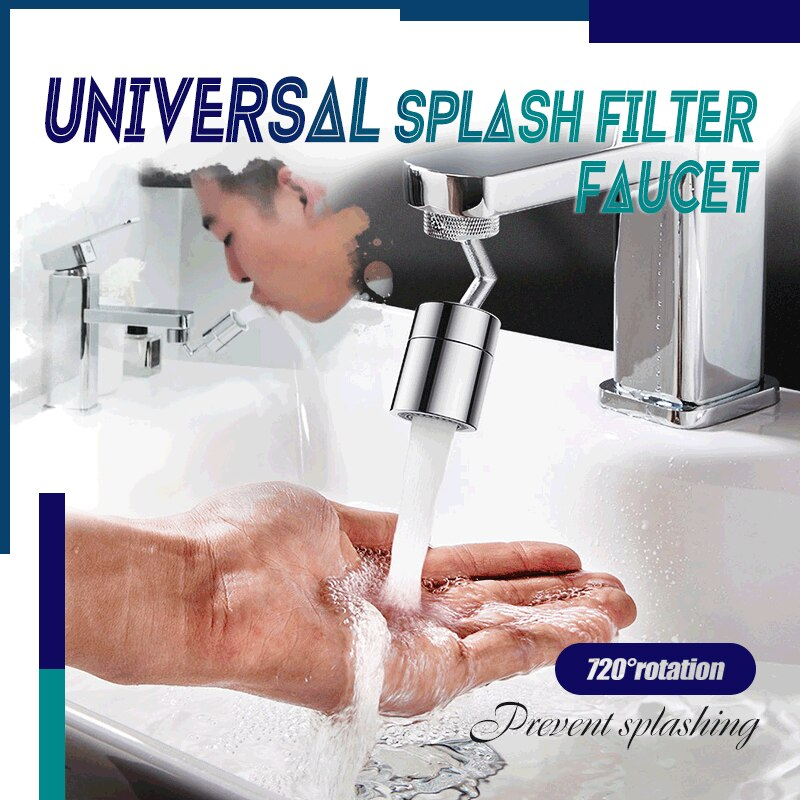 720 Degree Swivel Faucet Aerator Universal Splash Filter Spray Head Kitchen Tap Water Saving Nozzle Movable Brass Sprayer