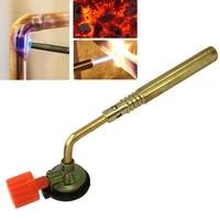 portablegas burner flame gun camping welding bbq brazing tool hand lgnition welding butane blow torch adjustable flamethrower