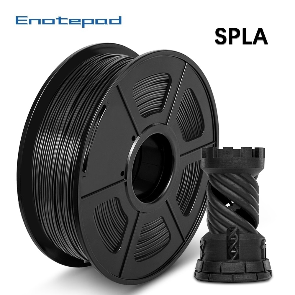 Filamento de impresora 3D SPLA 1,75mm 2,2 LBS 1KG carrete nueva llegada 100% materiales de impresión 3D sin burbujas, modelo panza