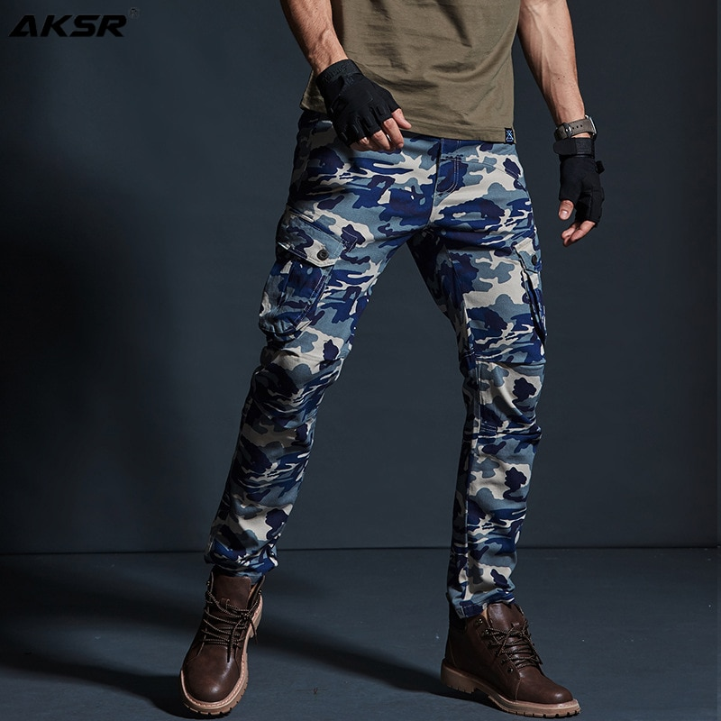 الرجال السراويل البضائع العسكرية التمويه الرجال السراويل سراويل البضائع الانيقة للرجال الملابس 2020 جديد سراويل قطنية المتضخم