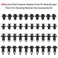 black faster clips kit accessories body car clip of assortment fastener push pin rivet