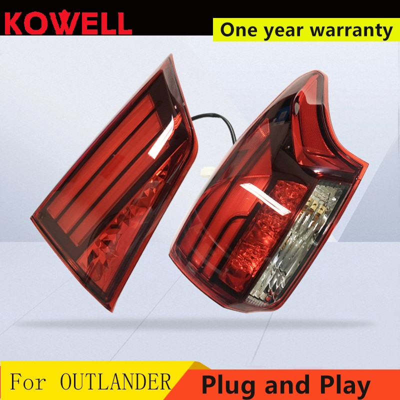 KOWELL Car Styling cubierta de faro trasero para Mitsubishi Outlander luces traseras 2015-2018 luces traseras LED lámpara trasera luces traseras LED