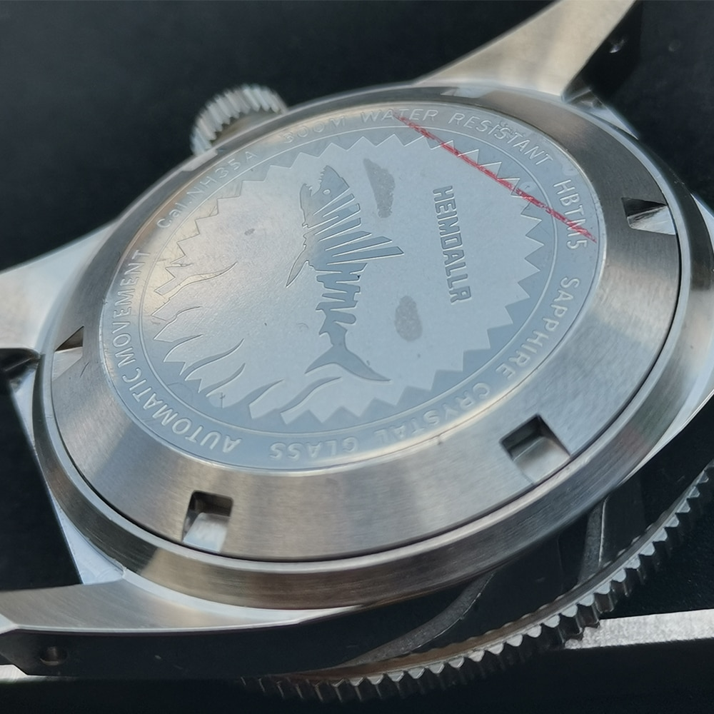 Heimdallr 62MAS Watch Case Solid Sapphire Ceramic Bezel Diver Watch 300M Water Resistance Case For NH35 NH36A Automatic Movement enlarge