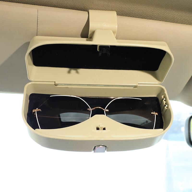 Автомобильные футляры для очков, автомобильные солнцезащитные очки, Бумажные очки, многофункциональные автомобильные футляры для очков