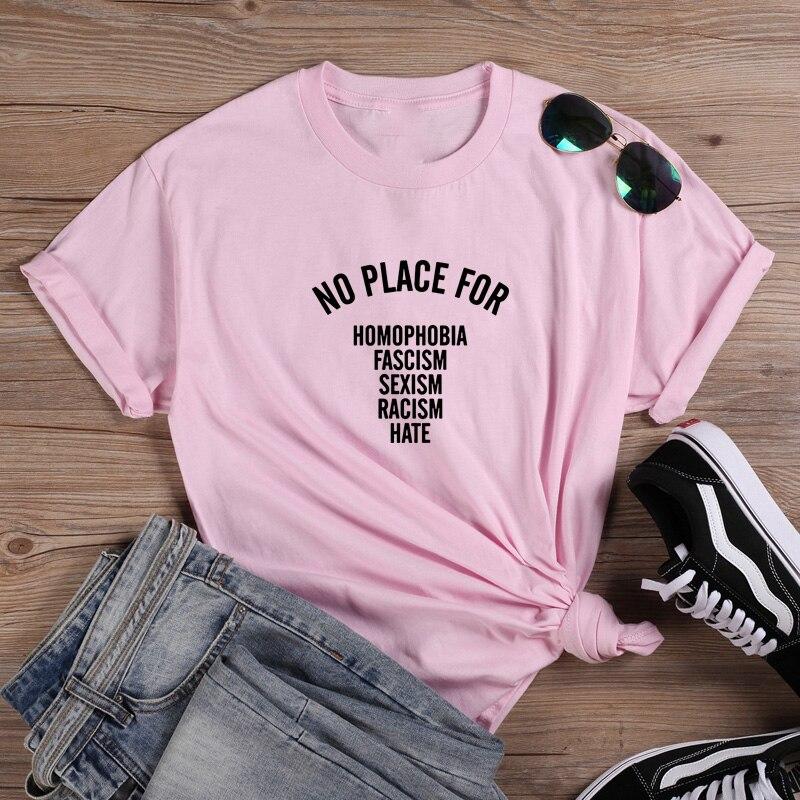 Camiseta divertida sin lugar, Camiseta de algodón de manga corta para Mujer,...
