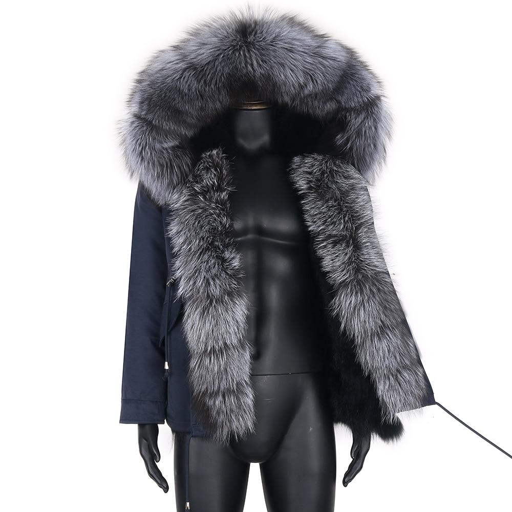 Мужская короткая парка с мехом енота, черная водонепроницаемая куртка с карманами и воротником из натурального меха енота, зимний сезон 2021