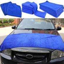 Darmowa wysyłka niebieskie duże czyszczenie z mikrofibry Auto detale samochodów miękkie ściereczki ręcznik do mycia Duster narzędzie hurtownia szybka dostawa