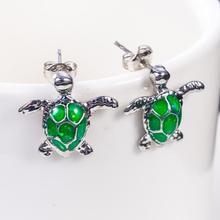 Fashion Rhinestone Bird Cute Turtle Stud Earrings For Women Female Personality Colorful Animal Earin