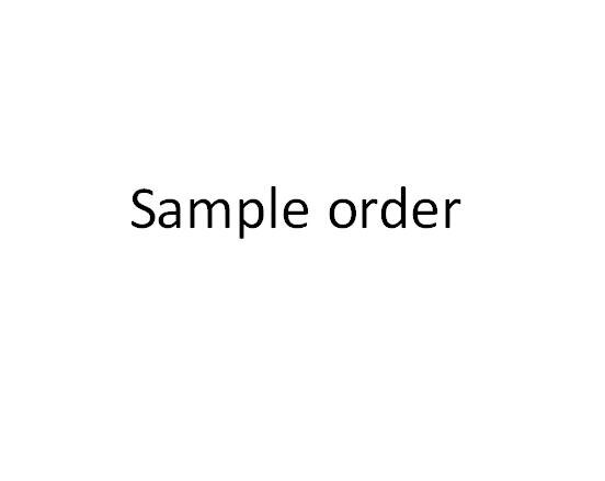 customized sample order cost