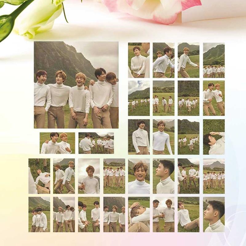 30pcs/set KPOP EXO Hawaii Photobook Album Self Made Paper Lomo Card Photo Card Poster HD Photocard Fans Collection