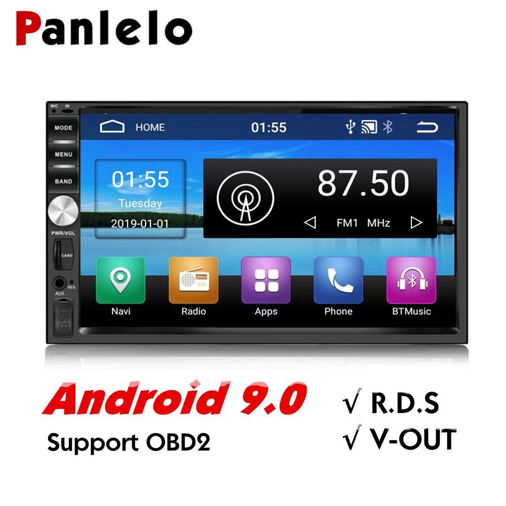 Panlelo s1 2 din android carro gps android 9 estéreo do carro 7 polegada 1080 p rádio bluetooth wifi multi-media player