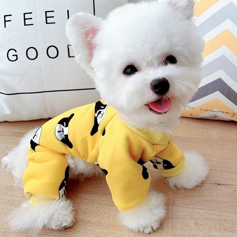 Ropa para perros, chándal con cara sonriente para todas las estaciones, ropa de abrigo para mascotas, abrigo para perros pequeños, chaqueta, jersey para cachorros, trajes para mascotas