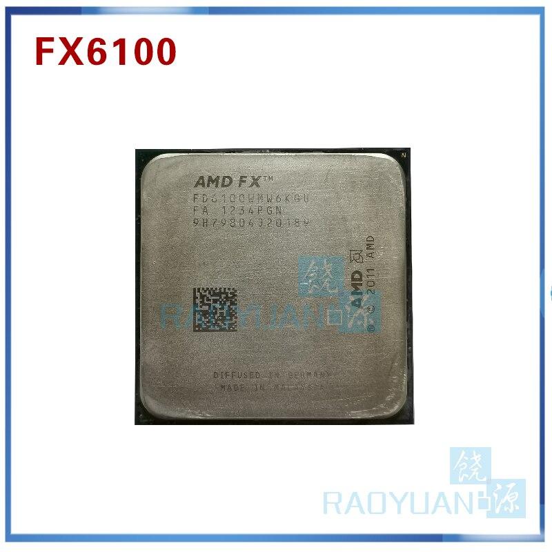 Процессор AMD FX серии FX6100, 3,3 ГГц, шестиядерный процессор FX 6100 FD6100WMW6KGU 95 Вт, разъем AM3 + amd fx-series fx 6100processor fx   АлиЭкспресс